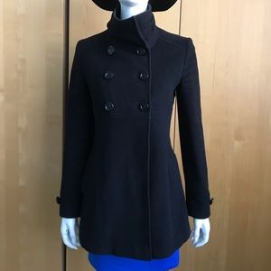 35a1f4cc3452 Searle black wool coat jacket size 4